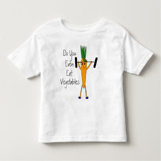 Toddler Weightlifting carrot t-shirt