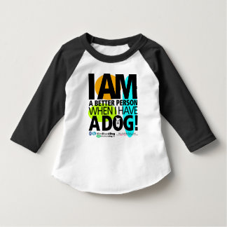 Toddler When I Have A Dog B&W-3/4 T-Shirt