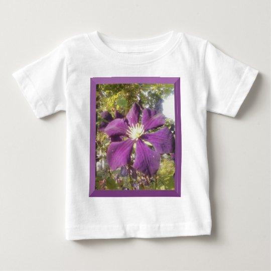 Toddler White T-Shirt Girl Passionate Purple Flowe