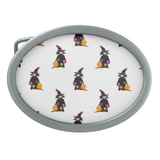 Toddler Witch Trick or Treat Repeat Pattern Belt Buckles