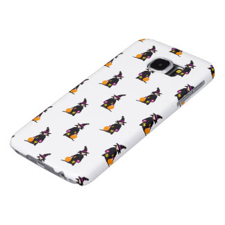 Toddler Witch Trick or Treat Repeat Pattern Samsung Galaxy S6 Cases
