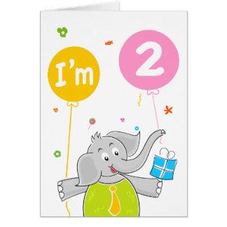 Toddler's 2nd Birthday Card