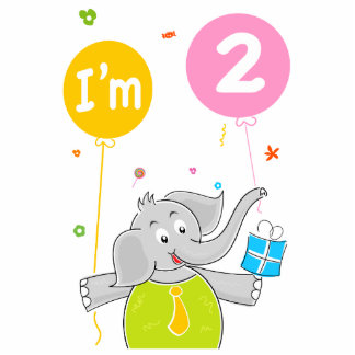 Toddler's 2nd Birthday Cutout