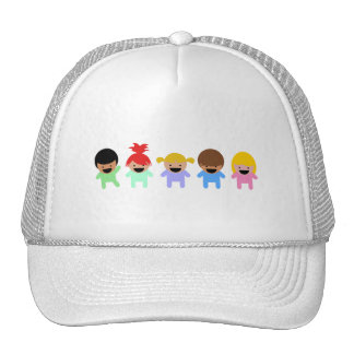toddlers-303904 COLORFUL ADORABLE CARTOON Trucker Hat