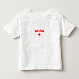 Toddlers' Aruba Design with National Flag Elements Toddler T-shirt