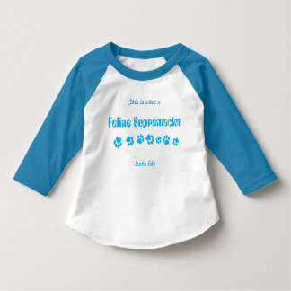 "Toddlers' ""Feline Supremacist"" Raglan Shirt"