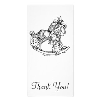 Toddlers on a Rocking Horse Photo Card