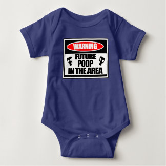 Toddlers One Piece Future Poop In The Area Baby Bodysuit