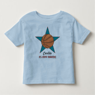 Toddler's Personalized Basketball T-shirt