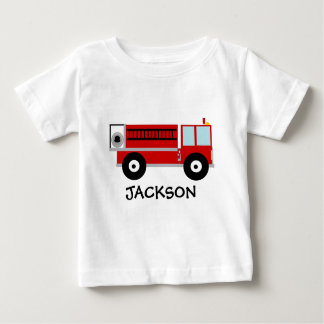Toddlers Personalized Fire Engine T-shirt