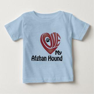 Toddler's Shirt: Love My Afghan Hound Baby T-Shirt