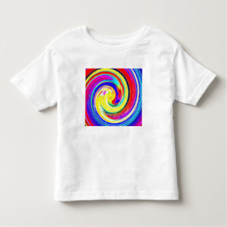 Toddlers whiteT-shirt with bright Abstract Pattern Tee Shirt