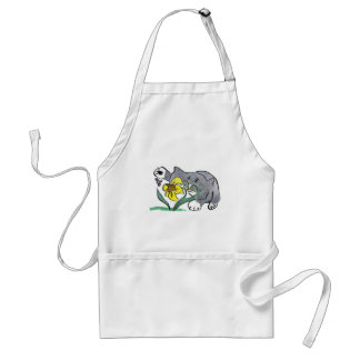 Todd's Paw and Buzzing Bee in Spring Adult Apron