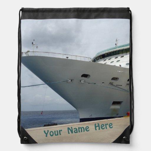 Todo a bordo de nombre personalizado encendido mochila