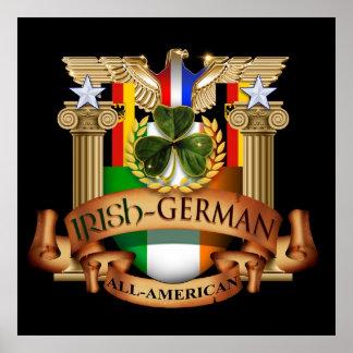 Todo-Americano alemán irlandés Póster