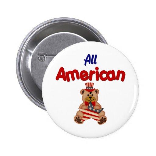 Todo americano pin redondo 5 cm