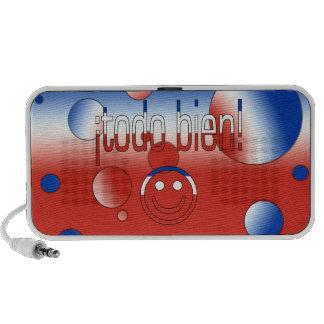 ¡Todo Bien! Chile Flag Colors Pop Art Notebook Speaker