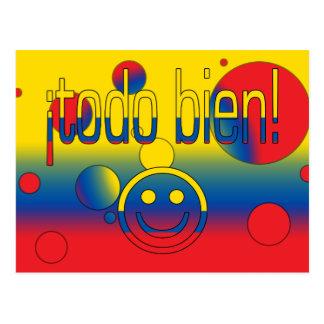 ¡Todo Bien! Ecuador Flag Colors Pop Art Postcard