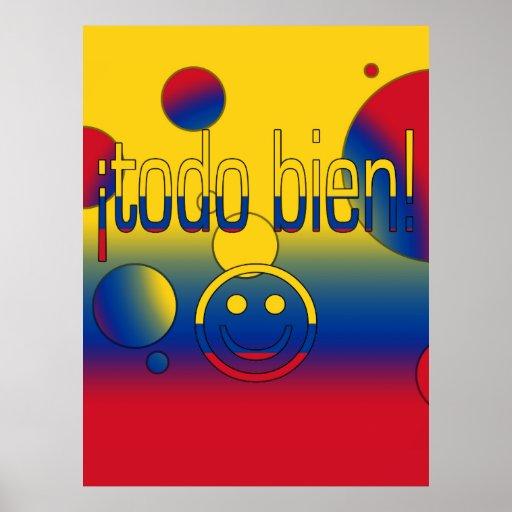 ¡¡Todo Bien! La bandera de Colombia colorea arte p Posters