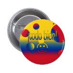 ¡¡Todo Bien! La bandera de Colombia colorea arte p Pins