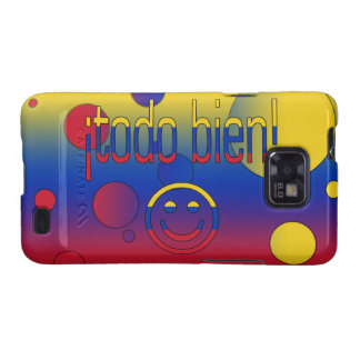¡¡Todo Bien! La bandera de Venezuela colorea arte  Samsung Galaxy S2 Carcasa