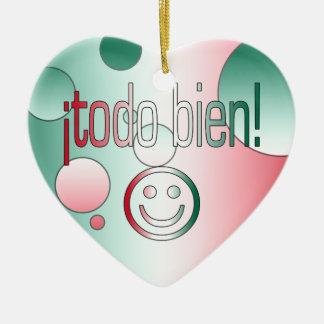 ¡Todo Bien! Mexico Flag Colors Pop Art Christmas Tree Ornaments