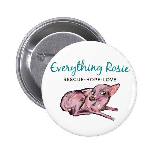 Todo botón de Rosie Pin Redondo De 2 Pulgadas