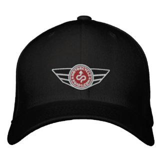 Todo-casquillo negro con el logotipo bordado rojo  gorras bordadas