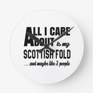 Todo cuidado de i es alrededor mi doblez escocés reloj redondo mediano