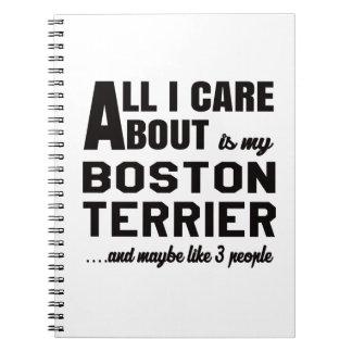 Todo cuidado de i es alrededor mi terrier de spiral notebook