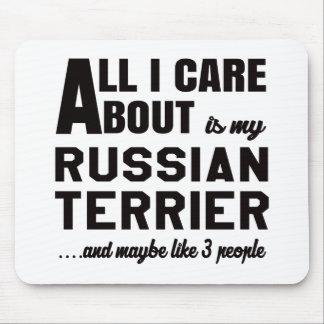 Todo cuidado de i es alrededor mi terrier ruso mouse pads