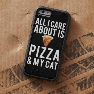 Todo cuidado de i es alrededor pizza y mi gato funda de iPhone 6 tough xtreme