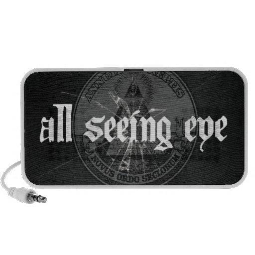 Todo el altavoz portátil del ojo que ve