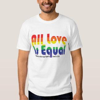 """""""Todo el amor es"""" la camiseta igual 2 de la Camisas"""