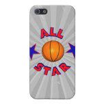 todo el baloncesto de la estrella iPhone 5 funda