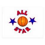todo el baloncesto de la estrella postal