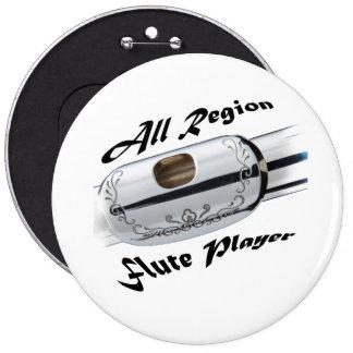 Todo el botón del jugador de flauta de la región pin redondo de 6 pulgadas