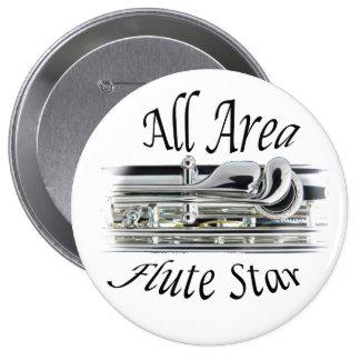 Todo el botón del jugador de flauta del área del pin redondo de 4 pulgadas