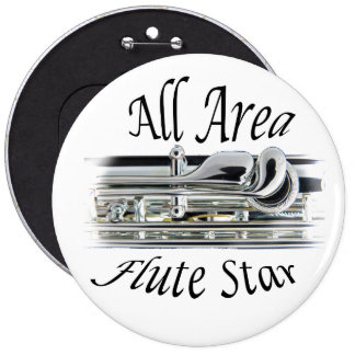 Todo el botón del jugador de flauta del área del pin redondo de 6 pulgadas