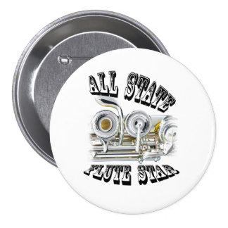 Todo el botón del jugador de flauta del estado pin redondo de 3 pulgadas