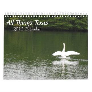 Todo el calendario de Tejas 2012 de las cosas