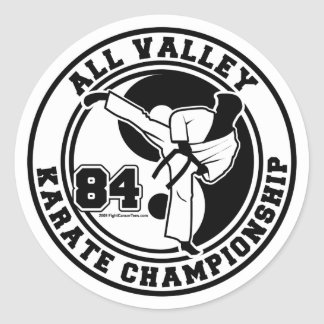 Todo el campeonato del karate del valle pegatina redonda