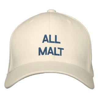 Todo el casquillo de la malta gorras de beisbol bordadas