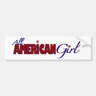 Todo el chica americano pegatina para auto