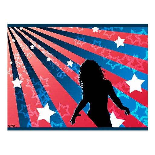 Todo el chica americano postales