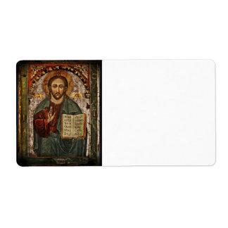 Todo el Cristo - Chrystus potentes Pantokrator Etiquetas De Envío