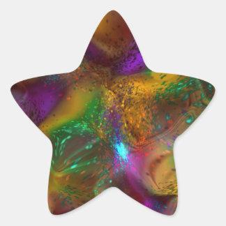 Todo el extracto encendido pegatina en forma de estrella