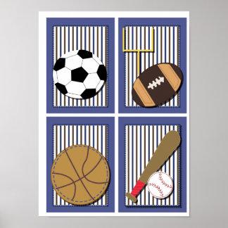 Todo el fútbol del fútbol del arte de la pared de  impresiones