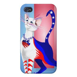 Todo el gato americano s iPhone 4 protectores