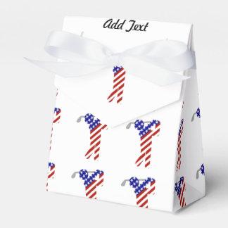Todo el golfista de sexo masculino americano cajas para regalos
